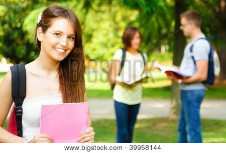 Portrait of a gorgeous smiling student