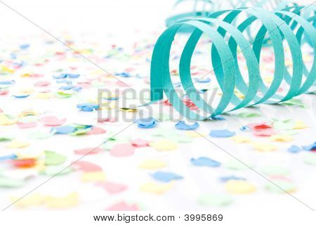 Several Colourful Party Paper Ribbons