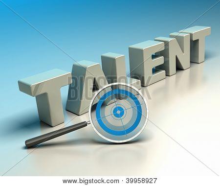 headhunter concept, talent hunter