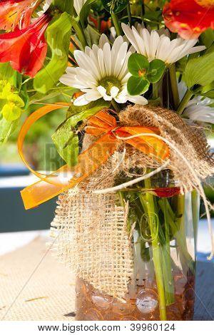 Orange And White Flowers