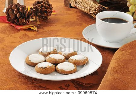 Molasses Cookies And Coffee