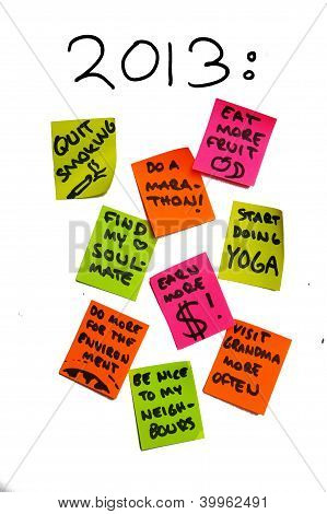 New Year Resolutions 2013, Personal Life Goals, To Do List, Overambition