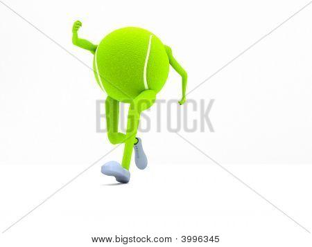Running Tennis Ball