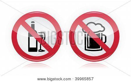 Problema com a bebida - sem álcool, nenhum sinal de advertência de cerveja