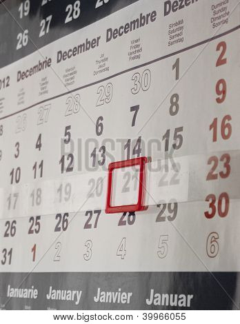 Calendar Of 21 December 2012, End Of The World