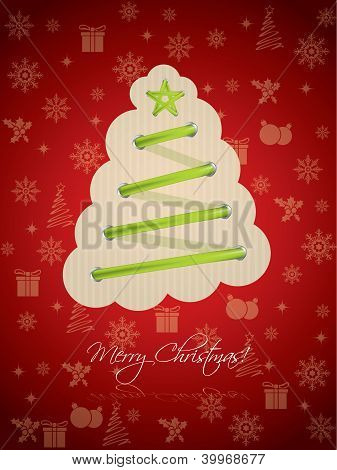 Cool Christmas Greeting With Green Laces