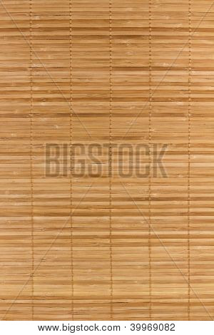 Close up of bamboo mat background
