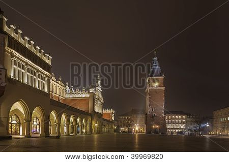 Cloth Hall And Town Hall Tower, Cracow, Poland