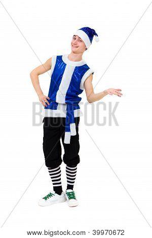 Actor Dressed Like A Funny Leprechaun Posing