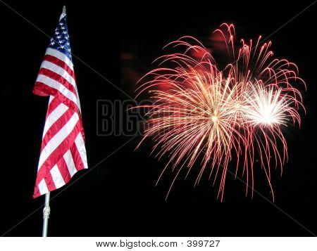Flag Fireworks 3