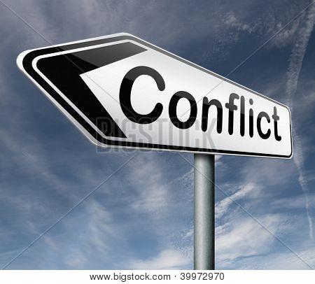 Konfliktmanagement in Unternehmen arbeiten oder zwischen Paar mit verschiedenen Interesse das Problem lösen