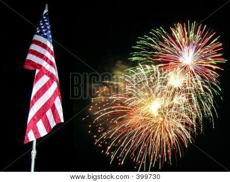 Flagge fireworks