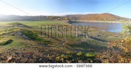 Reservoir Lake Edersee In Germany.