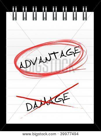 Chose The Word Advantage Over Damage