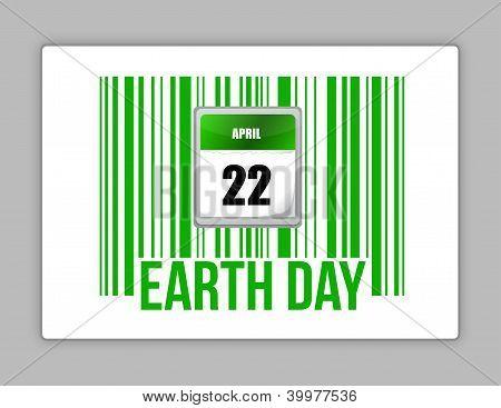 Natur-Barcode und Erde-Tag