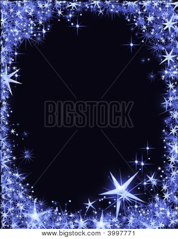 New Year'S Eve Frame With Stars