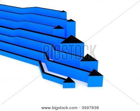 3D Blue Arrows Competition