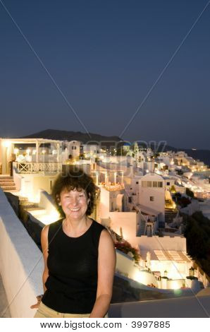 Tourist In Santorini