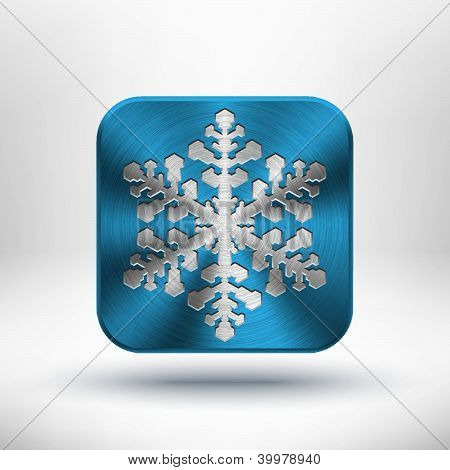 Christmas metal snowflake icon