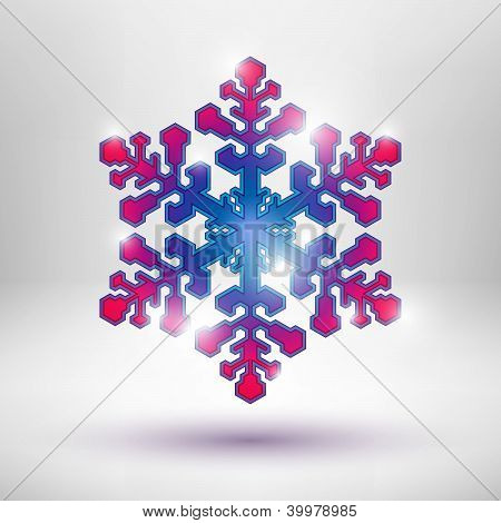 Abstract Christmas snowflake
