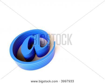 3D blau e-Mail-Zeichen