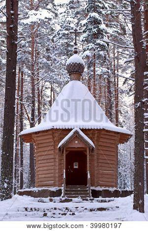 Wooden chapel.