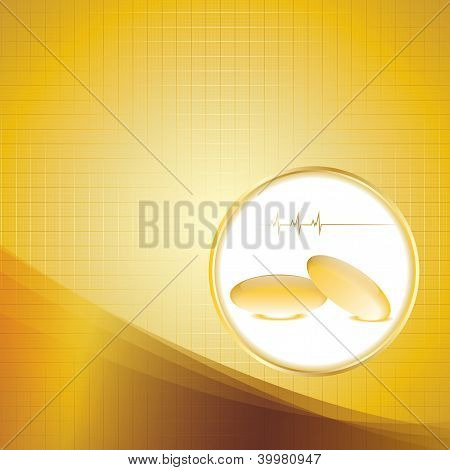 Abstract Omega 3 Medical Background