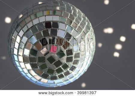 Christmas Disco Ball With Sunlight Spots
