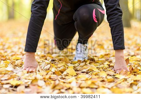Sport Woman Prepared To Overcome