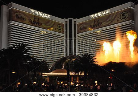 Volcano at Mirage Hotel & Casino in Las Vegas