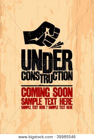 Under construction design template.
