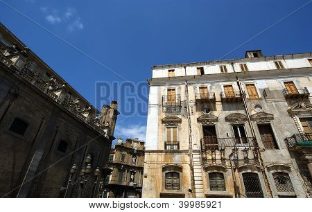 On The Streets Of Palermo, Sicily. The Baroque Architecture