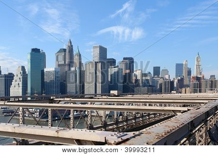 New York Skyline In Sunny Ambiance