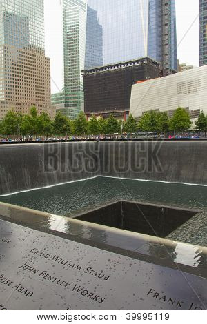 9/11 Memorial At Ground Zero (nyc, Usa)