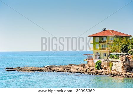 The hotel on the beach in Side.