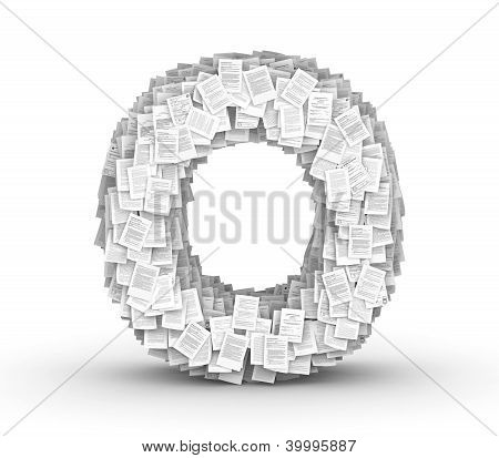 Letter O, page documents font