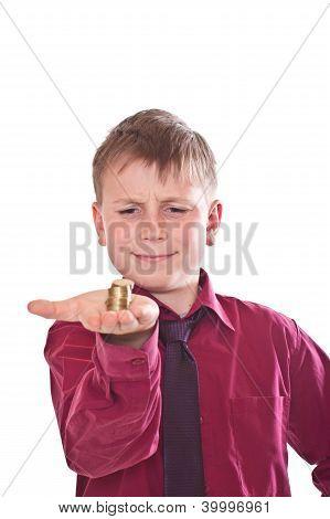 Happy Teenager Holding Money