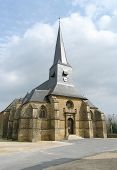 Medieval Church In Small French Village poster