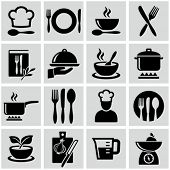 stock photo of saucepan  - Cooking and kitchen icons - JPG