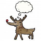 foto of rudolf  - cartoon red nosed reindeer - JPG
