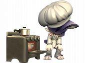 Little Cook Toon Figure poster