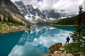 stock photo of rocky-mountains  - Moraine Lake Banff National Park Canadian Rocky Mountains - JPG