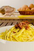 foto of guanciale  - Spaghetti alla carbonara - JPG