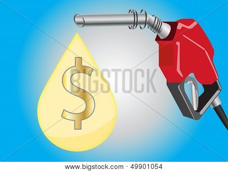 Fuel Dispensers with fuel drop and money symbol inside