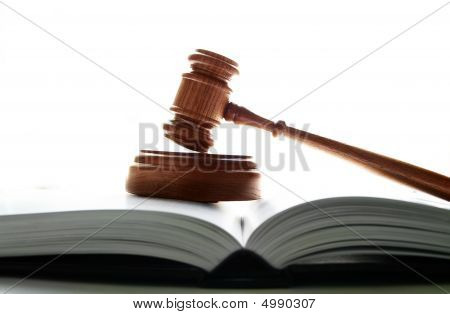 Gavel On White