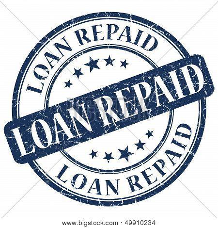Loan Repaid Blue Stamp