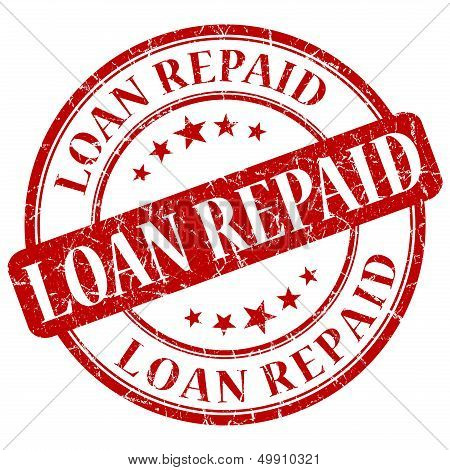 Loan Repaid Red Stamp
