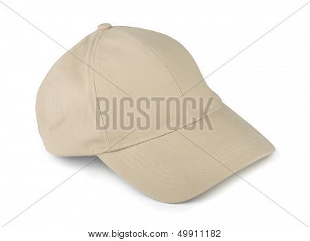 Linen baseball cap isolated on white
