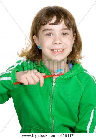 Little Girl Brushes