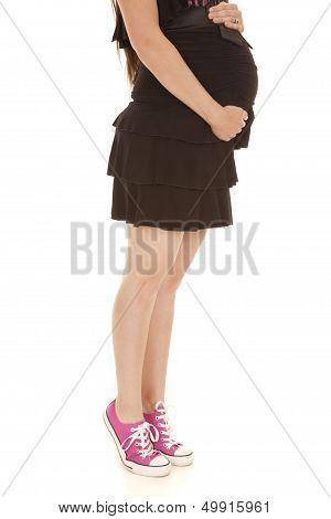 Pregnant Legs Dress Tip Toes